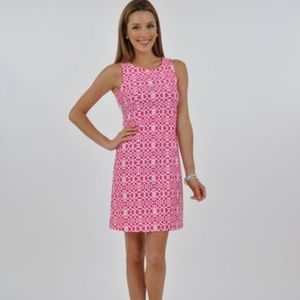 Make Offer Jude Connally Beth Dress Geometric Pink